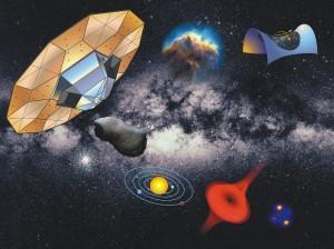 Ilustración de los retos científicos de Gaia. Imagen: ESA.