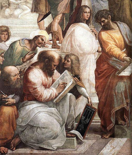 Pitágoras, detalle de 'La escuela de Atenas', de Rafael Sanzio / Wikipedia.