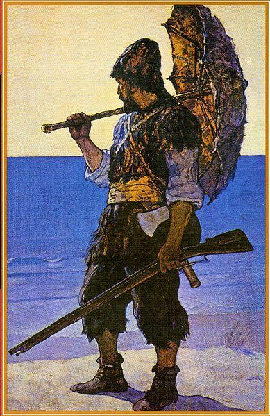 La ciencia es fruto de un trabajo colaborativo, no apta para solitarios a lo Robinson Crusoe / Ilustración de N. C. Wyeth - Wikimedia.