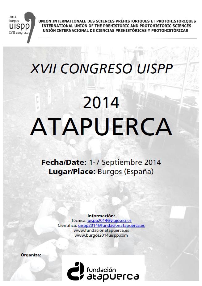 Cartel Congreso UISPP 2014 Burgos