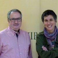 Los investigadores Martí Mas y Mónica Solís.