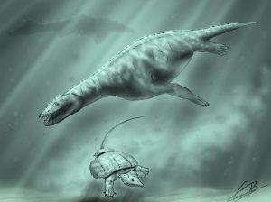 Simosaurus y placodonto entre fauna marina que habitó Manzanera | Carlos de Miguel Chaves
