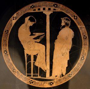La Pitia y el Rey Egeo · Antikensammlung Berlin | Wikimedia Commons