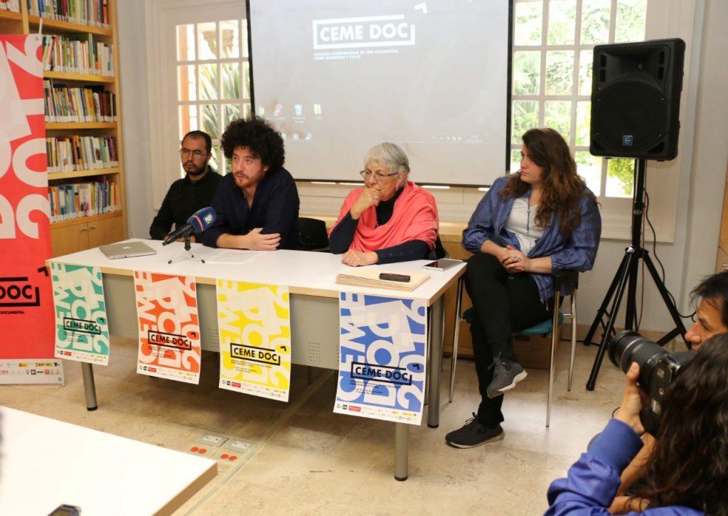 Amado Cabrales, responsable de prensa, Jorge Moreno Andrés, director artístico del CEME DOC 2016, María Luisa Capella, directora del CEME DOC 2016 y coordinadora del CEME y Teresa Espinasa, responsable de Comunicación